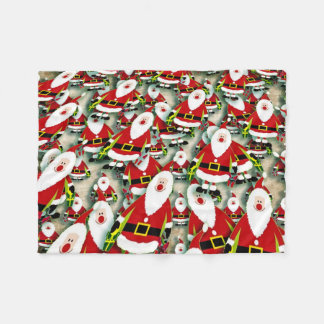 Santas Everywhere Fleece Blanket