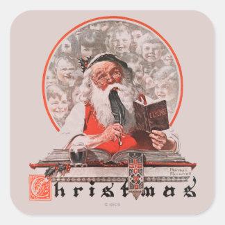 Santa's Expenses Square Sticker