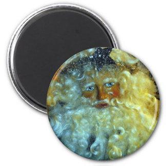 Santa's Face 6 Cm Round Magnet