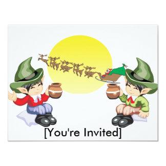 Santa's Farewell 11 Cm X 14 Cm Invitation Card