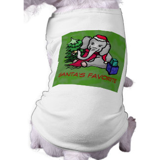 Santa's Favorite Cute Cartoon Christmas Elephant Shirt