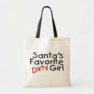 Santas Favorite Dirty Girl Budget Tote Bag
