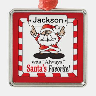 Santa's Favorite - Funny Christmas Ornament
