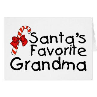 Santas Favorite Grandma 2 Greeting Card