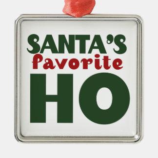 Santas Favorite HO Silver-Colored Square Decoration