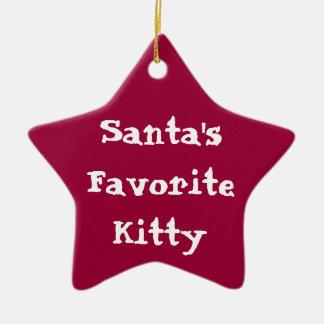 Santas Favorite Kitty Orna Christmas Ornament