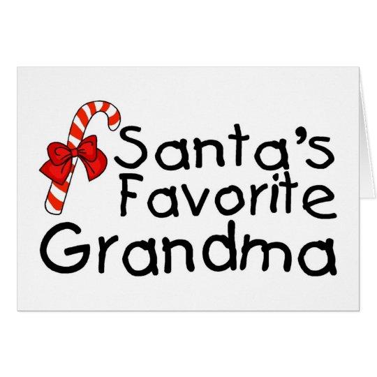 Santas Favourite Grandma 2 Card