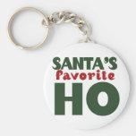 Santas Favourite HO Basic Round Button Key Ring
