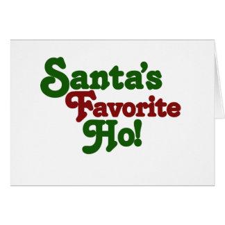 Santas favourite ho greeting card