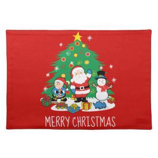 Santa's friends placemat
