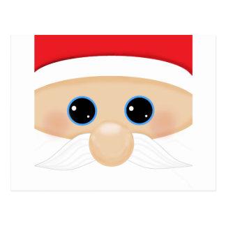 Santa's Funny Closeup Postcard