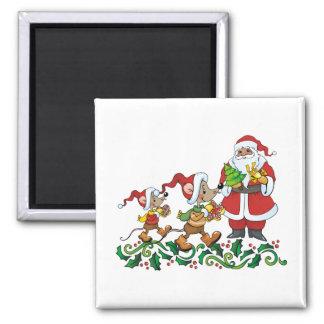 Santas Gift Square Magnet