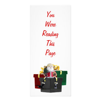 Santa's Gifts Bookmark Template Rack Card Template