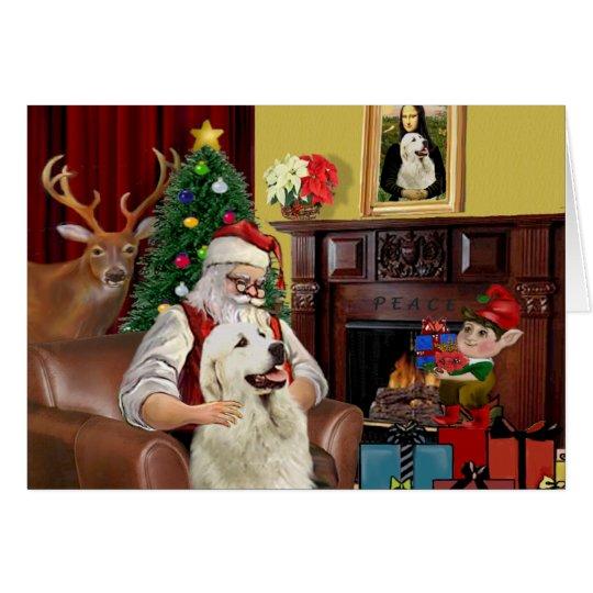 Santa's GreatPyrenees Card