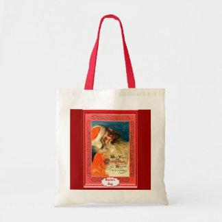 Santa's greetings tote bags