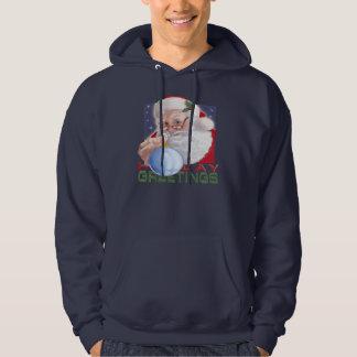 Santa's Greetings - Basic Hooded Sweatshirt