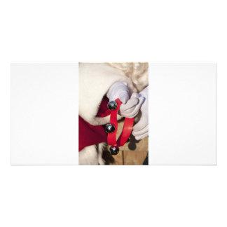 Santas Hands Photo Card Template