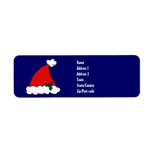 Santa's hat return address label