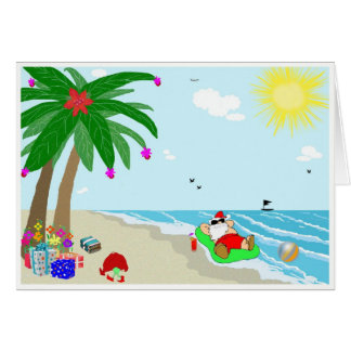 Santa's Hawaiian Christmas Note Cards