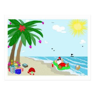 Santa's Hawaiian Christmas Post Card
