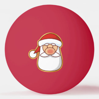 Santa's Head Ping Pong Ball