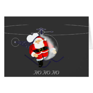 Santa's Helicopter Card