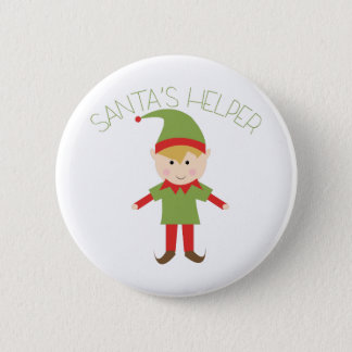 Santas Helper 6 Cm Round Badge