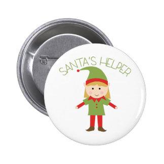 Santas Helper 6 Cm Round Badge