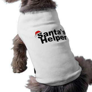 Santas Helper Black Sleeveless Dog Shirt