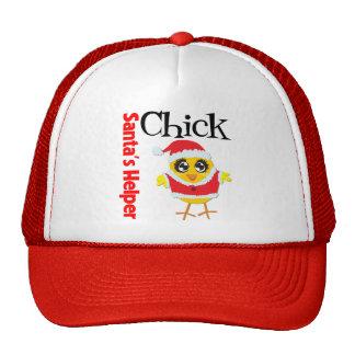 Santa's Helper Chick Mesh Hat