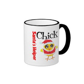 Santa's Helper Chick Coffee Mug