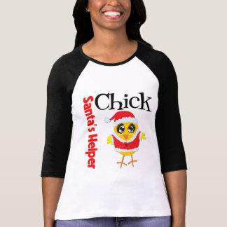 Santa's Helper Chick T Shirts