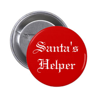Santa's Helper Christmas Holiday Button