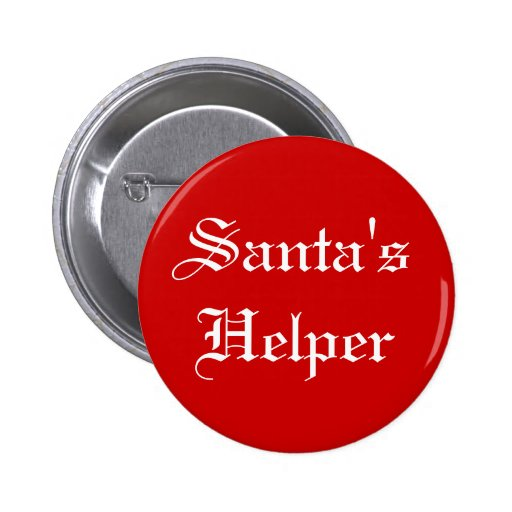 Santa's Helper Christmas Holiday Button