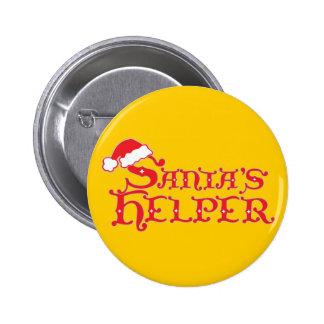 Santa's helper colourful christmas button/badge 6 cm round badge