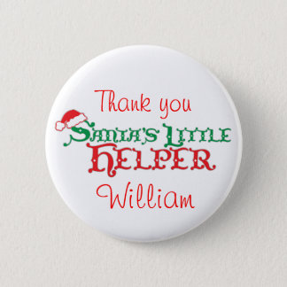 Santa's helper colourful christmas button/badge 6 cm round badge