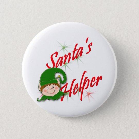 Santa's Helper Elf 6 Cm Round Badge