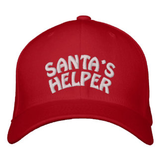 SANTA'S HELPER EMBROIDERED HAT