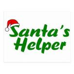 Santas Helper Green Post Card