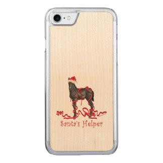 Santa's Helper Horse Colt Carved iPhone 7 Case