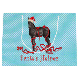 Santa's Helper Horse Colt Large Gift Bag