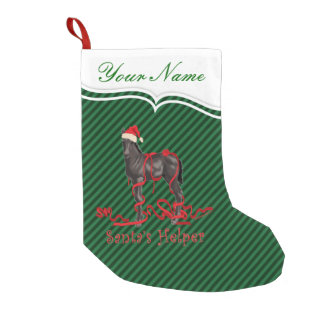Santa's Helper Horse Colt Small Christmas Stocking