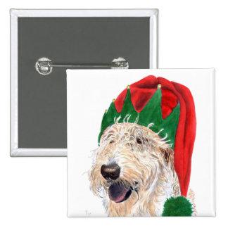 Santas Helper Labradoodle Magnet 15 Cm Square Badge