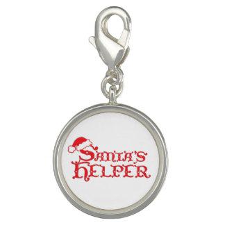 Santa's helper red white graphic charm