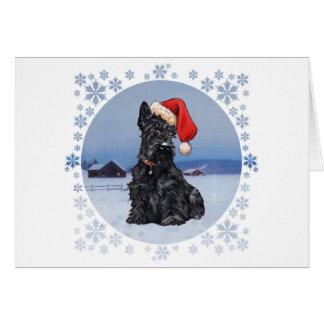 Santa's Helper Scottish Terrier Card