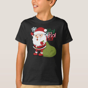 Santa's Ho-Ho-Holiday T-shirt for kids