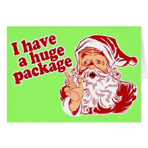 Santas Huge Package Greeting Card