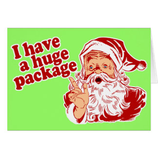 Santas Huge Package Greeting Card