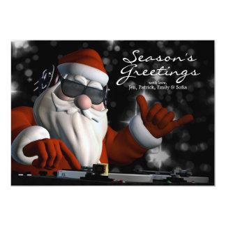 Santa's In Da House 13 Cm X 18 Cm Invitation Card