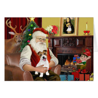 Santa's Jack Russell Terrier PUP Greeting Cards